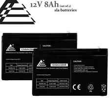 Set of 2- 12v 8Ah replaces 7Ah 9ah Sealed Lead Acid Battery for FIOS, UPS, APC