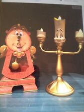 Disney Parks Beauty and the Beast Cogsworth Clock & Lumiere Light Up. BUY BOTH !