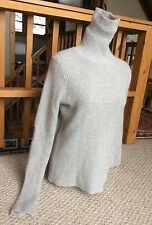 ZARA  Angora Wool Gray Turtleneck Sweater Cozy Chunky Knit Women's Small