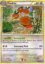 HGSS UNDAUNTED POKEMON RARE CARD - DODRIO 11/90