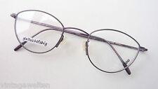 Rapp filigrane Pantobrille aubergine Metall Gestell Brille Fassung kleine Gläser