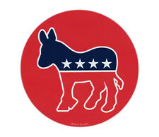 Magnetic Bumper Sticker - Democrat Donkey (Liberal) - Round Magnet