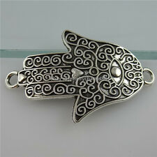 11960 8PCS Alloy Hollow Hand of Fatima Hamesh Hand Hamsa Hand Connector Charms