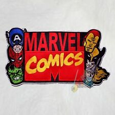 Marvel Comics Logo Embroidered Big Patch for Back Hulk Spiderman Thor Avengers