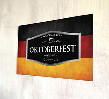 Oktoberfest German Flag Beer label sign A4 metal plaque decor picture