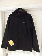 Mens Size Medium Regatta Matthews Jacket NWT in Black Waterproof Concealed Hood