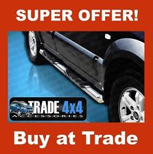 "KIA SORENTO SIDE STEPS BARS STAINLESS STEEL CHROME 76MM 3"" VIPER BB005 2002-09"