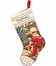 Cross Stitch Kit ~ Janlynn Boy Waiting For Santa Christmas Stocking #015-0243