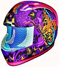 Australian Site ~ MOTORCYCLE HELMET - Embroidery Design on a CD or Janome CFCard