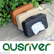 1pc Car Sun Visor Tissue Box Leather Auto Accessories Holder Paper Napkin Clip
