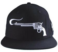 40 oz NYC New York Black White Smoking Guns Snapback Baseball Hat Cap NWT