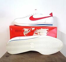 Vintage Nike Leather Cortez Running Shoes 1982 Wht/Red MIB Mens Size 15 NEW MINT