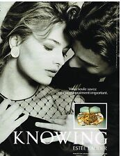 Publicité Advertising 1992 Parfum Knowing par Estée lauder