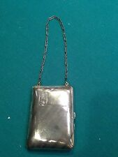 1915 Sterling Silver Coin, Mirror, Compact Purse-Schmitz & Moore, Newark, NJ
