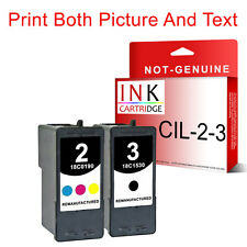 2 Ink Cartridge 2 & 3 For Lexmark Z1380 Z1480 X2580 X3580 X4580