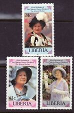 Liberia # 1037-39 MNH Complete Queen Mother's 85th BDay