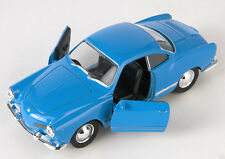 BLITZ VERSAND VW Karmann Ghia Coupe blau / blue Welly Modell Auto 1:34 NEU & OVP