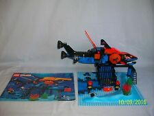 Lego Set 6190 Shark's Crystal Cave VINTAGE AQUASHARKS w/ instructions 100%
