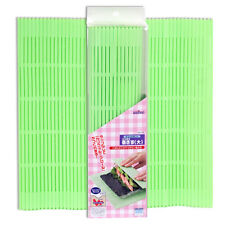 "Japanese 10""x10.25"" Green Non-Stick Plastic Sushi Roll Roller Mat, Made in Japan"