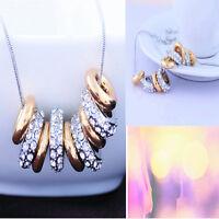 Charming Women Crystal Choker Chunky Bib Statement Necklace Fashion Jewelry