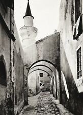 1934 Vintage 11x14 LIBYA Tripoli Brick Alley Architecture Photo Art ~ HURLIMANN