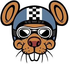 RACER MOUSE BUMPER STICKER LAPTOP STICKER HARD HAT STICKER