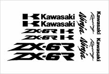 Kawasaki Ninja ZX6R 7R 9R 10R Decal Kit, Many Colors To Chose From