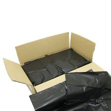 50 BLACK EXTRA HEAVY DUTY REFUSE BAGS SACKS BIN LINERS RUBBISH BAG 180G QUALITY