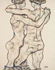 Schiele Egon Two Nude Women Canvas 16 x 20   #6747