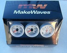 Super Pro #5055 Triple Gauge Set Trio Oil/Volt/Temp. Gauge, Mechanical Gauges