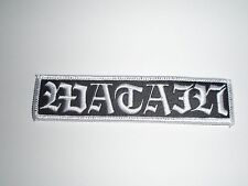 WATAIN BLACK METAL LEATHER EMBROIDERED PATCH