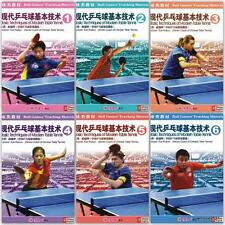 The basic technology of modern table tennis series, 1-6, By Xue Ruikun, 6 DVDs