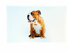 Traditional English Bulldog Large Cotton Tea Towel