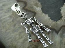 Catene Rimorchio Teschio Skull Scheletro Gothic Celtic pendants ARGENTO 925