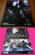 RESIDENT EVIL CHRONICLES HD COLLECTION sdcc 2012 Original Capcom POSTER PS3