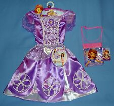 DISNEY SOFIA THE FIRST COSTUME PRINCESS DRESS 2 IN 1;GIRL 4-6X;PURSE;RING-LOT-4