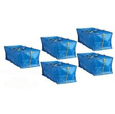 iKEA 5 X Large Blue FRAKTA ZIPPERED Tote Storage Laundry BAG FREE SHIPPING NEW