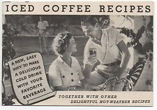 1930s Iced Coffee Recipe Booklet together with other Hot Weather Recipes