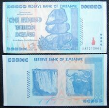 ZIMBABWE 100 TRILLION DOLLARS | 2008 AA | CIRCULATED | 500 MILLION IN STORE!