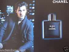 PUBLICITÉ 2013 BLEU DE CHANEL GASPARD ULLIEL  - ADVERTISING