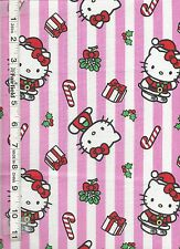 Hello Kitty Christmas Stripes Fabric by Springs Creative bty
