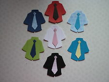 PACK OF 20 SIZZIX DIECUT MENS SHIRTS AND TIES TOPPERS