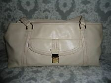 "Liz Claiborne - Lg. Cream White, PVC, Tote Style, Shoulder Bag 18""L, 8+""T  bel"