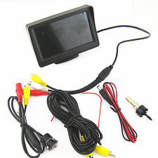 Car SUV 18.5mm Backup View Camera and 4.3 Inch LCD Review Parking Video Screen