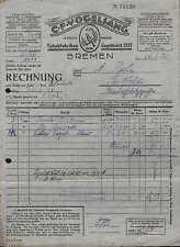 BREMEN, Rechnung 1928, Tabak-Fabriken C. F. Vogelsang