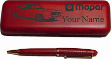 1969 Dodge Charger Rosewood Pen Case Laser Engraved -Nice Quality
