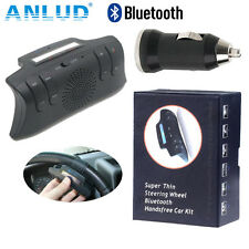 Bluetooth Car Kit Handsfree Steering Wheel MP3 FM Transmitter Speakerphone Thin