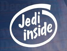 JEDI INSIDE Funny Car/Van/Bumper/Window Vinyl Sticker - Ideal For Star Wars Fans