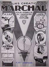 PUBLICITE MARCHAL LES 5 TRILUX BOUGIE AUTO FLEXUIE MONOCLE DE 1928 FRENCH AD PUB