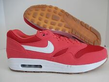 NIKE AIR MAX 1 iD SOLAR RED-GUM BROWN SZ 14 [744459-991]